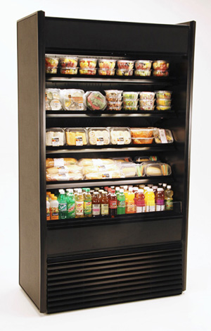 Oasis Mobile Tall Self Serve display Case