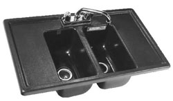 Double Basin Sink with Drain Boards