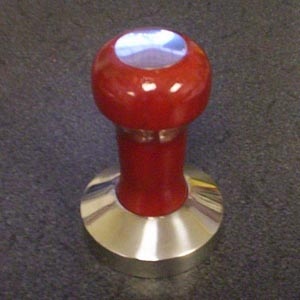 58 mm Flat Rosewood and Stainless Steel Espresso Tamper